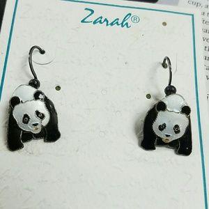 Zarah Endangered Species Collection Panda Earrings